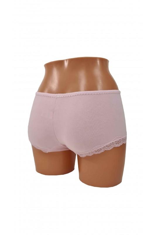 Rožinės spalvos moteriški šortukai DF112