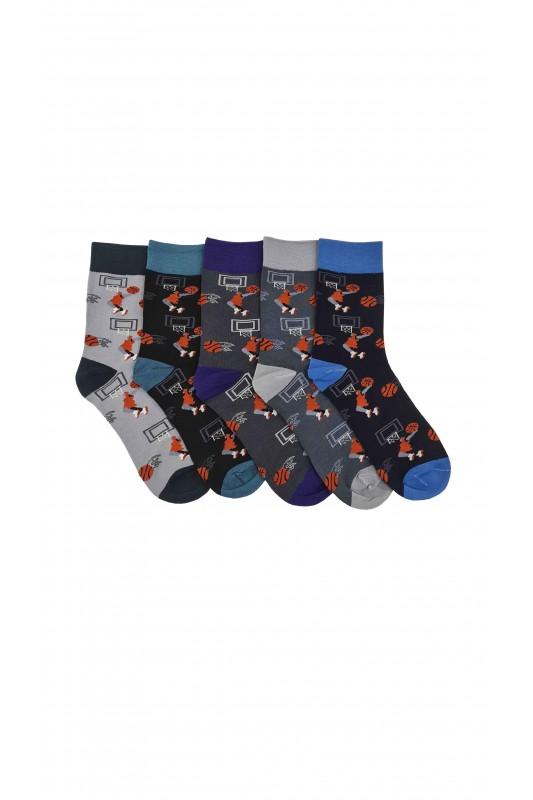 Vyriškos ilgos medvilninės kojinės 5 poros DKV027