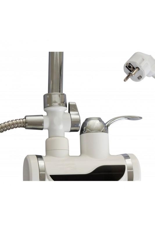 Elektrinis vandens šildytuvas su LCD ekranu ir dušu